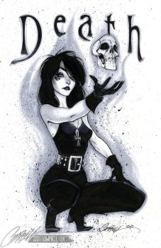 Neil Gaiman's DEATH by J-Scott-Campbell