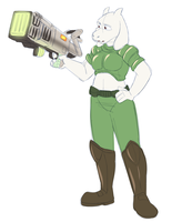 Colored Sketch Commission - Doom Toriel by EarthGwee