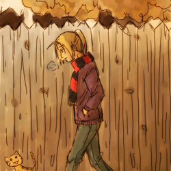 Ed walking by Darci-San