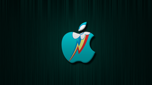 Rainbow Dash Apple Wallpaper by Warmo161