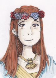 Jane Foster in a flower crown by heart-of-glass