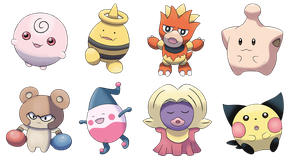 Beta Baby Pokemon Set 1