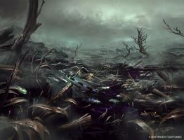 Flooded Battleground by Nele-Diel