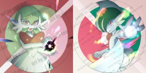 [Doujima] Mega Gardevoir and Gallade by not-teo