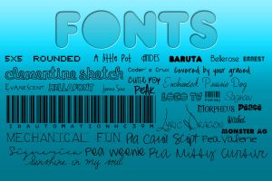 Pack of my favourite fonts by crazyinloveoveryou