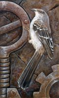 Mockingbird and Gears by ursulav