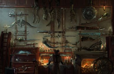 Bloodborne Hunter's workshop by Ishutani