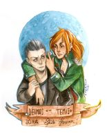 + Commission + Deimos and Temis by inu-steakcy