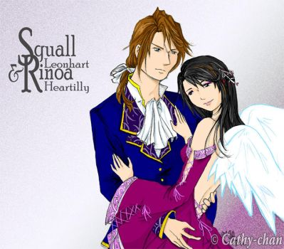 Squall and Rinoa by cathy-chan