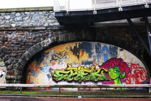 Wall, Belfast 3 by Frizelle