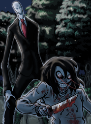 Jeff-vs-slender by ACPuig