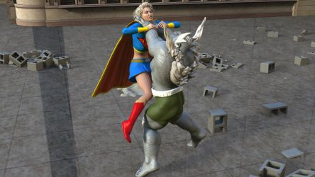 Doomsday Beats Supergirl 2 by MickLee99