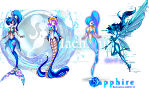 Sapphire Adoptions[ENDED] Adopts by hachimitsu-ink