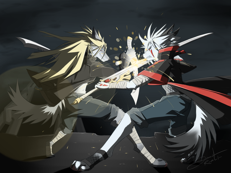 Battle Between Brothers by Raphial