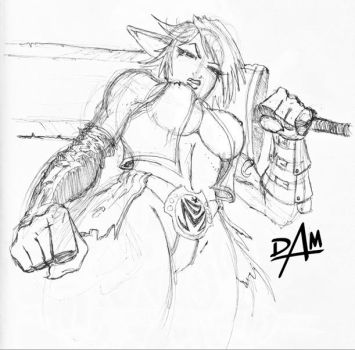 MOCHA ink sketch-almost there by dmario