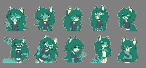 Minty sticker pack by RatchaArt