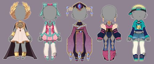 Outfit Adopts Set #3 (CLOSED) by LunaOfWater