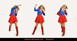 Supergirl  - Stock model reference pack 10 by faestock