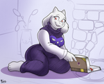 Storytime with Toriel (in color) by CookieSkoon