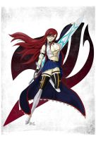 The Knight - Erza Scarlet by HeavenCanceller