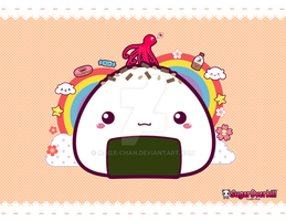 Kawaii Onigiri by mAi2x-chan