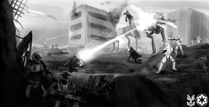 UNSC vs Galactic Imperial Empire by PlainBen