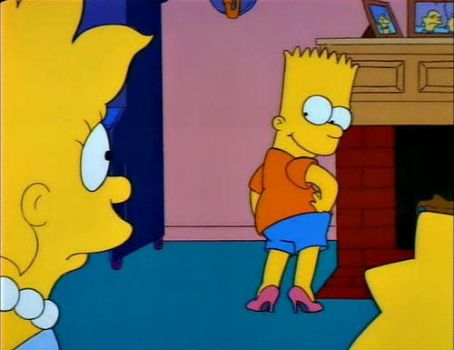 Bart simpson in high heels by kittyfelcon