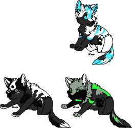Pups For fluffy40 by YKGadopts