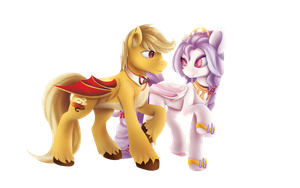Comission: Assam and Alba by L1nkoln