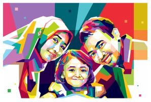 WPAP POP ART - FAMILY by opparudy