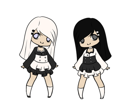 Yin and Yang Twins by TheThingsOneAndTwo