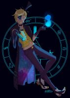 Human Bill Cipher by ironically-white