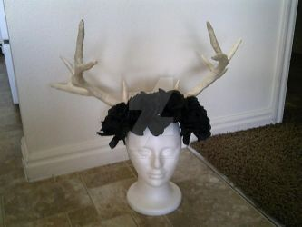 Antler and Flower Crown WIP 2 by LadySeshiiria