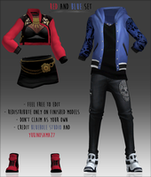 Red and Blue Jackets -DOWNLOAD- by YukinoSama27