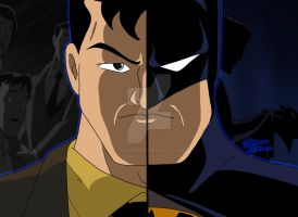 DCAU Duality - Bruce Wayne/Batman by OptimumBuster