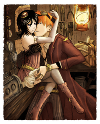 Ichiruki : Steampunk Halloween by burnedbacon