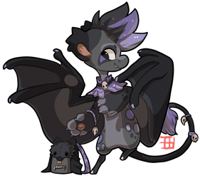 197 - Black Flying Fox by TheKingdomOfGriffia