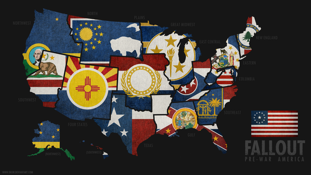 FALLOUT: Map of Pre-War America by okiir