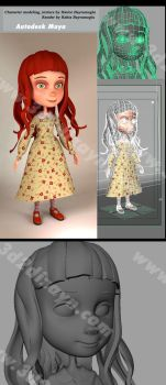 First Autodesk Maya Character by eydii