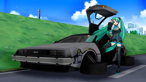 MMD BTTF Project: DMC-12 Delorean Time Machine by Phamser