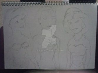 Disney Princess Fan Art - Part 1 - WIP by Suiag