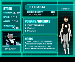 Young Justice OC: Illumina by afluffykiwi