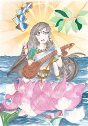 Goddess Saraswati by ZeCountess