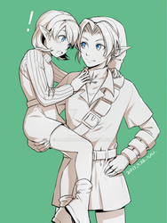link and saria by lulubuu
