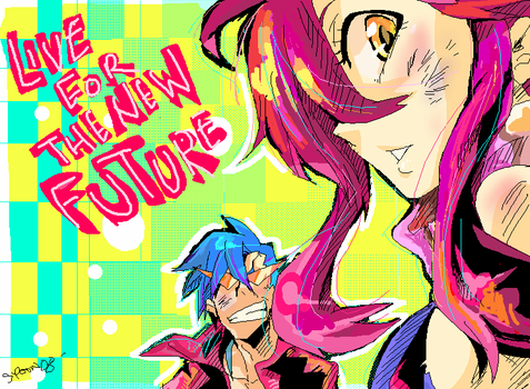 LIVE FOR THE NEW FUTURE by spacedrunk