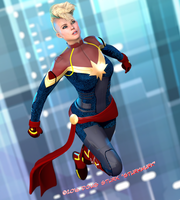 Captain Marvel by sturkwurk