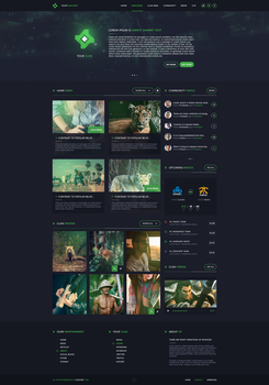 Clan Gaming Web Design by iEimiz