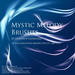 Mystic Melody Brushes by differentxdreamz