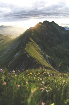The Brienzer Rothorn at sunrise  by Studiolifeinc