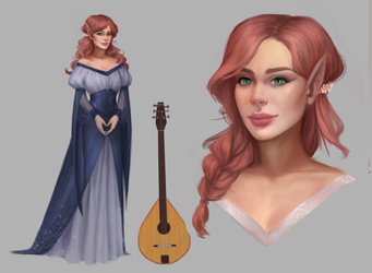 Character sheet commission by TychyTamara